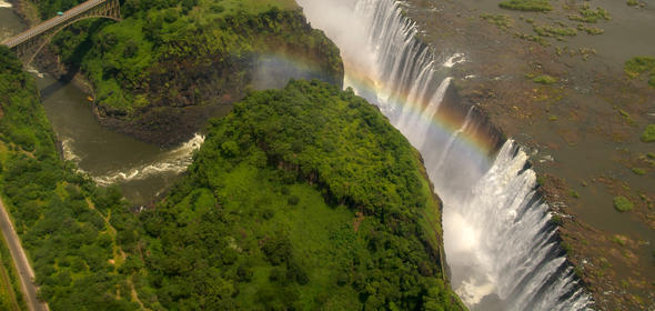 The magnificent Victoria Falls.