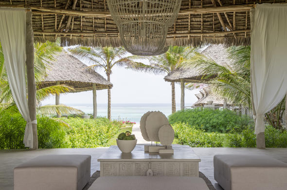 Stylish Zanzibar accommodation with ocean views.