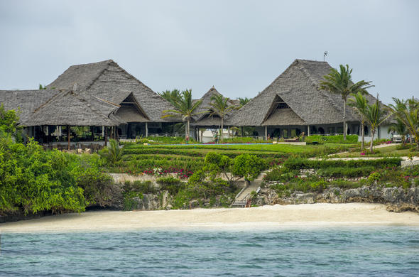 Zawadi Hotel located on the coast in Zanzibar.